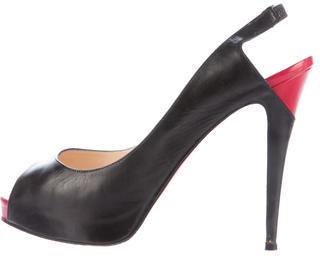Christian Louboutin  Christian Louboutin Leather Slingback Pumps