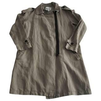 Green Cotton Bimba Y Lola Coat for Women