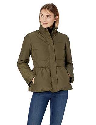 Lark & Ro Amazon Brand Women's Peplum Puffer Jacket