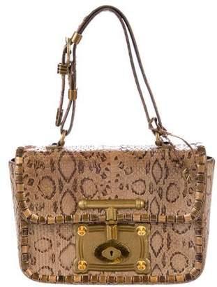 Bottega Veneta Embellished Python Bag