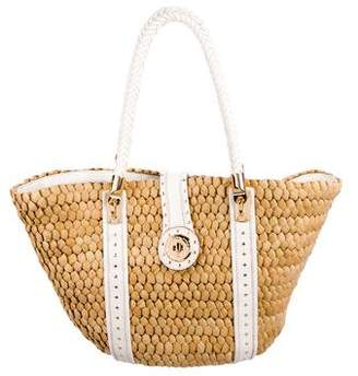 Michael Kors Straw Shoulder Bag