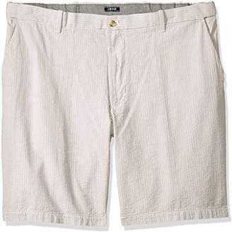 "Izod Men's Big and Tall Saltwater 9.5"" Flat Front Seersucker Short"