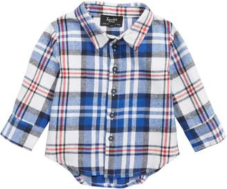 Bardot Junior Plaid Button Front Shirt