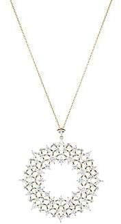 Adriana Orsini Women's Verbena 18K Yellow Gold & Rhodium-Plated Long Crystal Pendant Necklace