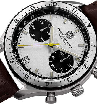 Bruno Magli 43mm Marco 1081 Chronograph Watch, Brown
