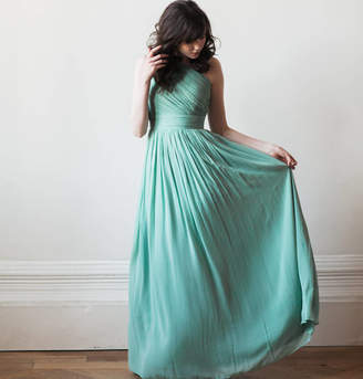 Matchimony Floor Length One Shoulder Long Bridesmaid Or Prom Dress