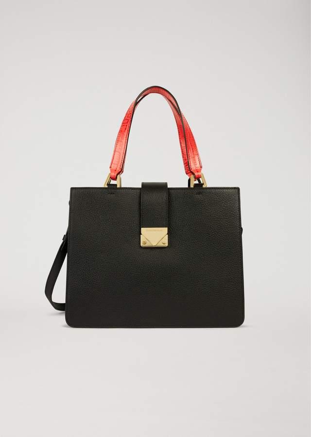 EMPORIO ARMANI handbag with contrasting handles
