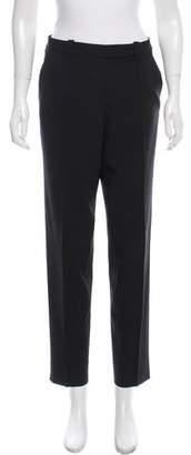 Halston Mid-Rise Virgin Wool Pants