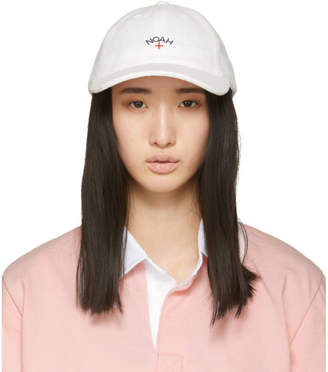 Noah NYC White Terry Logo Cap