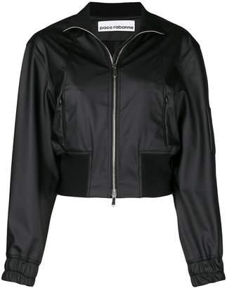 Paco Rabanne cropped bomber jacket