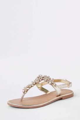 ac74ee3ace8 Next Womens River Island Gold Embellished Sandal