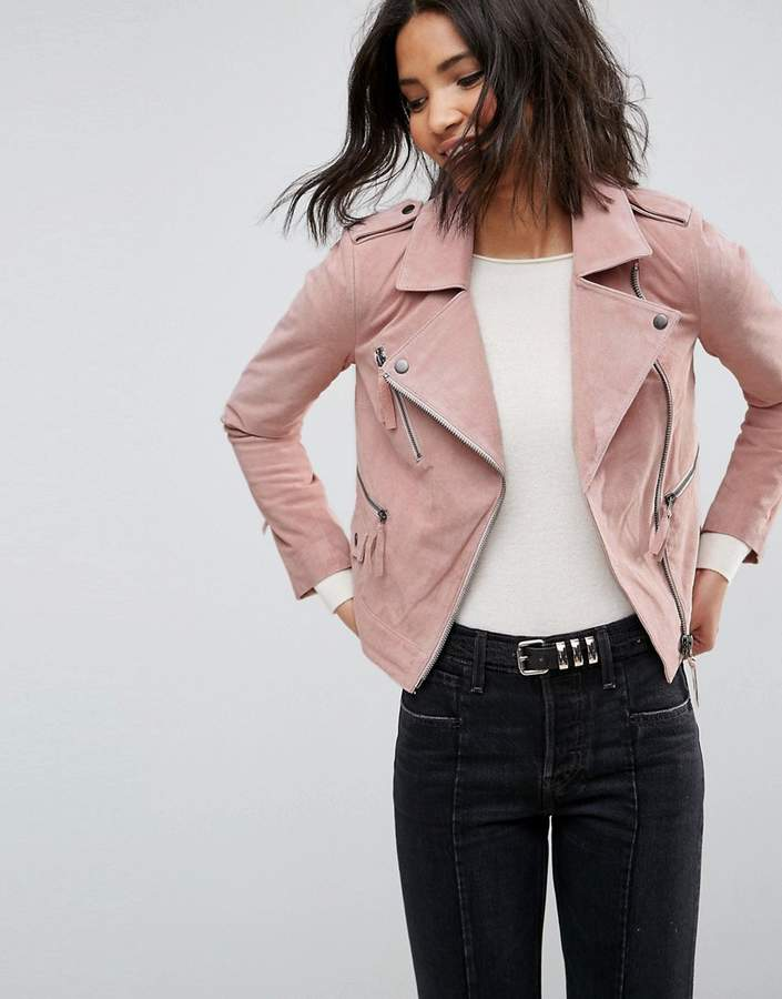 Asos Design ASOS Suede Biker Jacket