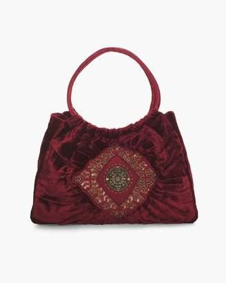 Chico's Chicos Embroidered Velvet Hobo Bag
