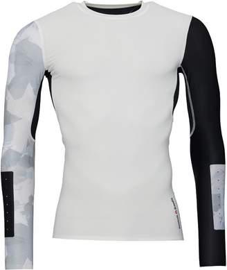 af1dff2a39ea at MandMDirect.com · Reebok Mens CrossFit Long Sleeve Compression Top Chalk