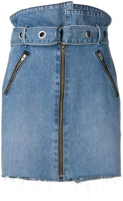 GRLFRND deconstructed belted skirt
