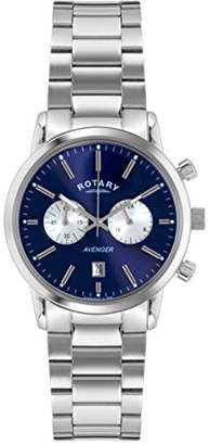 Rotary ' Avenger' Quartz Stainless Steel Casual Watch