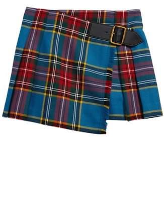 Burberry Klorrie Plaid Wool Miniskirt