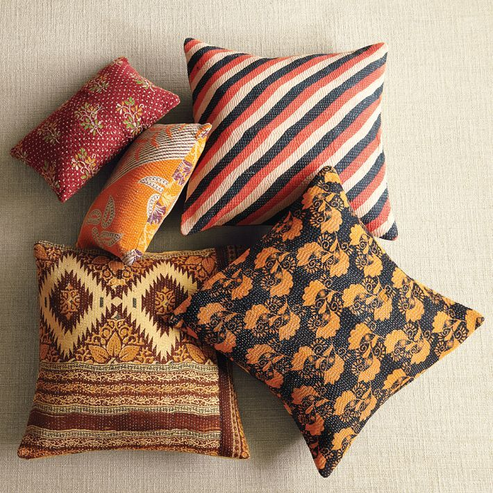 west elm Kantha Quilted Pillow