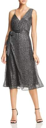 Keepsake Now and Then Asymmetric Metallic Dress