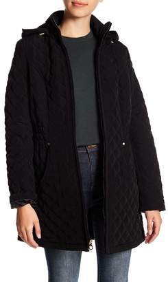 Laundry by Shelli Segal Quilted Fleece Lined Hooded Jacket