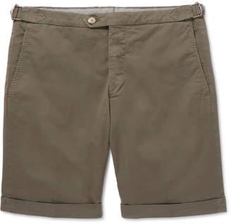 Thom Sweeney Slim-Fit Cotton-Blend Twill Shorts