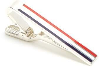 Striped-enamel sterling-silver tie bar