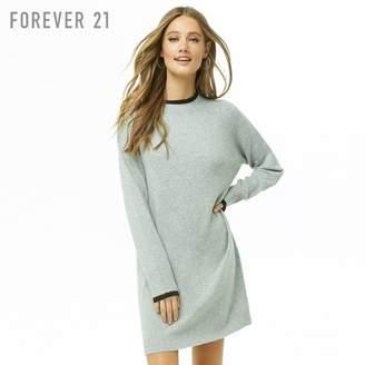 Forever 21 (フォーエバー 21) - Forever 21 ブラッシュドマールドカラーニットワンピース