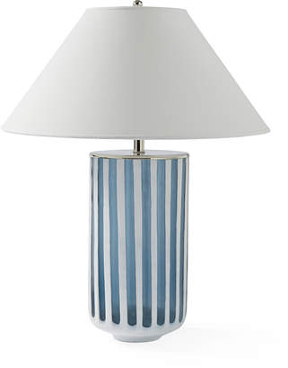 Serena lily azure table lamp