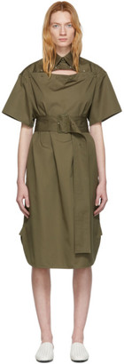Bottega Veneta Green Cotton Belted Dress