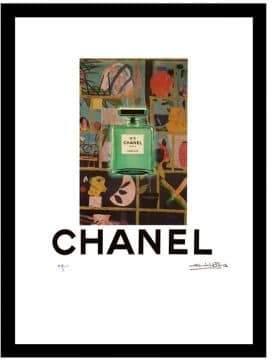 Chanel Luxe West Green Garden Fairchild Paris Vintage Wall Art