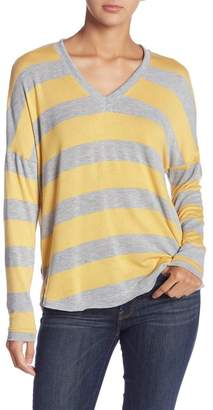 Socialite V-Neck Long Sleeve Stripe Sweater