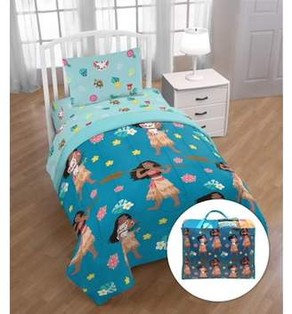 Disney Moana 'Flower Power' Twin Bed Set with Bonus Tote, Kid's Bedding