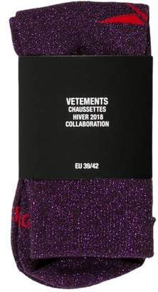 Vetements x Reebok 2018 Lurex Crew Socks w/ Tags