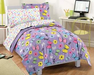 Factory Dream Sweet Butterfly Ultra Soft Microfiber Girls Comforter Set