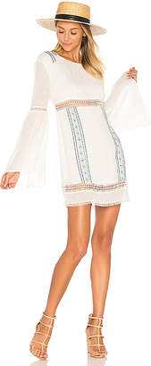 ale by alessandra Luana Long Sleeve Dress in White $178 thestylecure.com