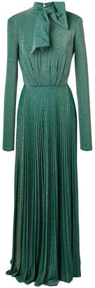Elisabetta Franchi sparkled pleated gown