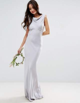 Asos Design DESIGN Bridesmaid 40s seamed maxi dress