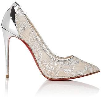 9dfa557a14b Christian Louboutin Women s Follies Lace Pumps - Version Silver