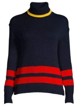 Polo Ralph Lauren Double Stripe Knit Turtleneck Sweater