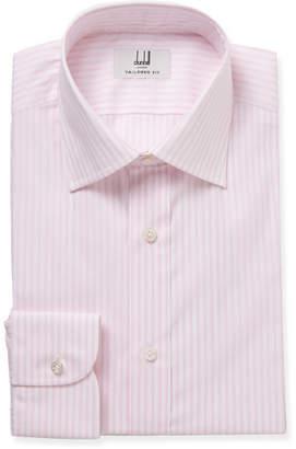 Dunhill Pink Slim-Fit Striped Cotton Shirt - Men - Pink