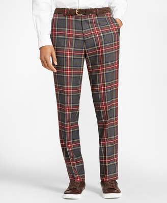 Brooks Brothers Tartan Wool Twill Trousers