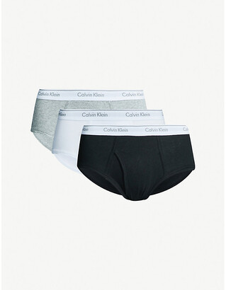 Calvin Klein Pack of three Classic classic-fit cotton briefs