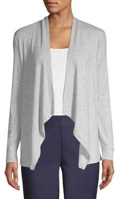 INC International Concepts Ribbed Open-Front Cardigan