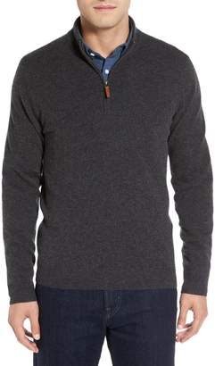 Nordstrom Cashmere Quarter Zip Sweater
