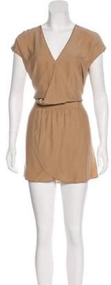 Haute Hippie Short Sleeve Mini Dress