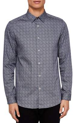 Ted Baker Lorrie Rounded Geo Print Regular Fit Button-Down Shirt