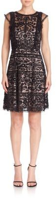 Parker Rosewell Embroidered Ruffle Dress $330 thestylecure.com