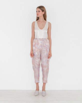Raquel Allegra Silk Pleat Pant