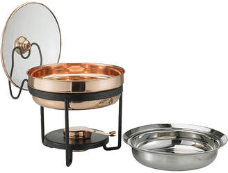 Old Dutch International Dcor Copper Chafing Dish With Glass Lid