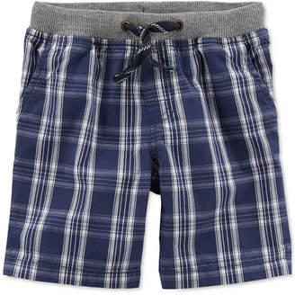 Carter's Little Boys Plaid Cotton Shorts